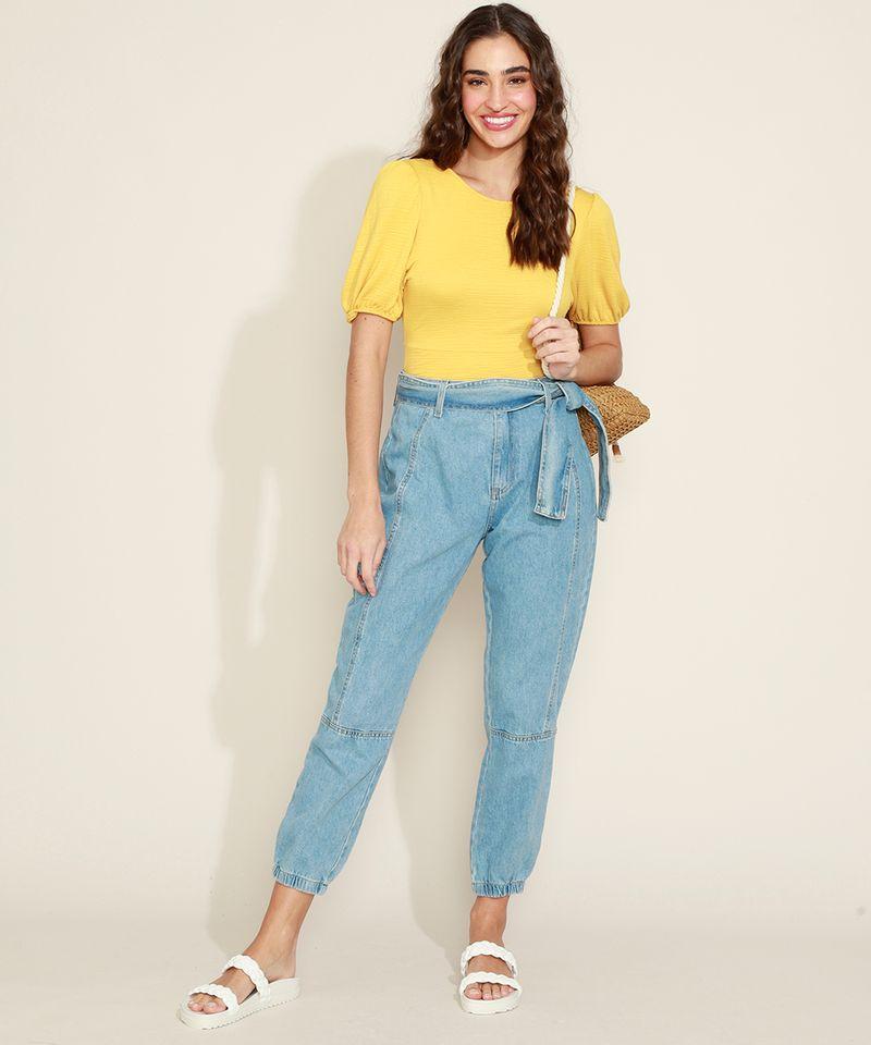 Calca-Jeans-Feminina-Jogger-Cintura-Media-com-Faixa-para-Amarrar-Azul-Claro-9971597-Azul_Claro_3