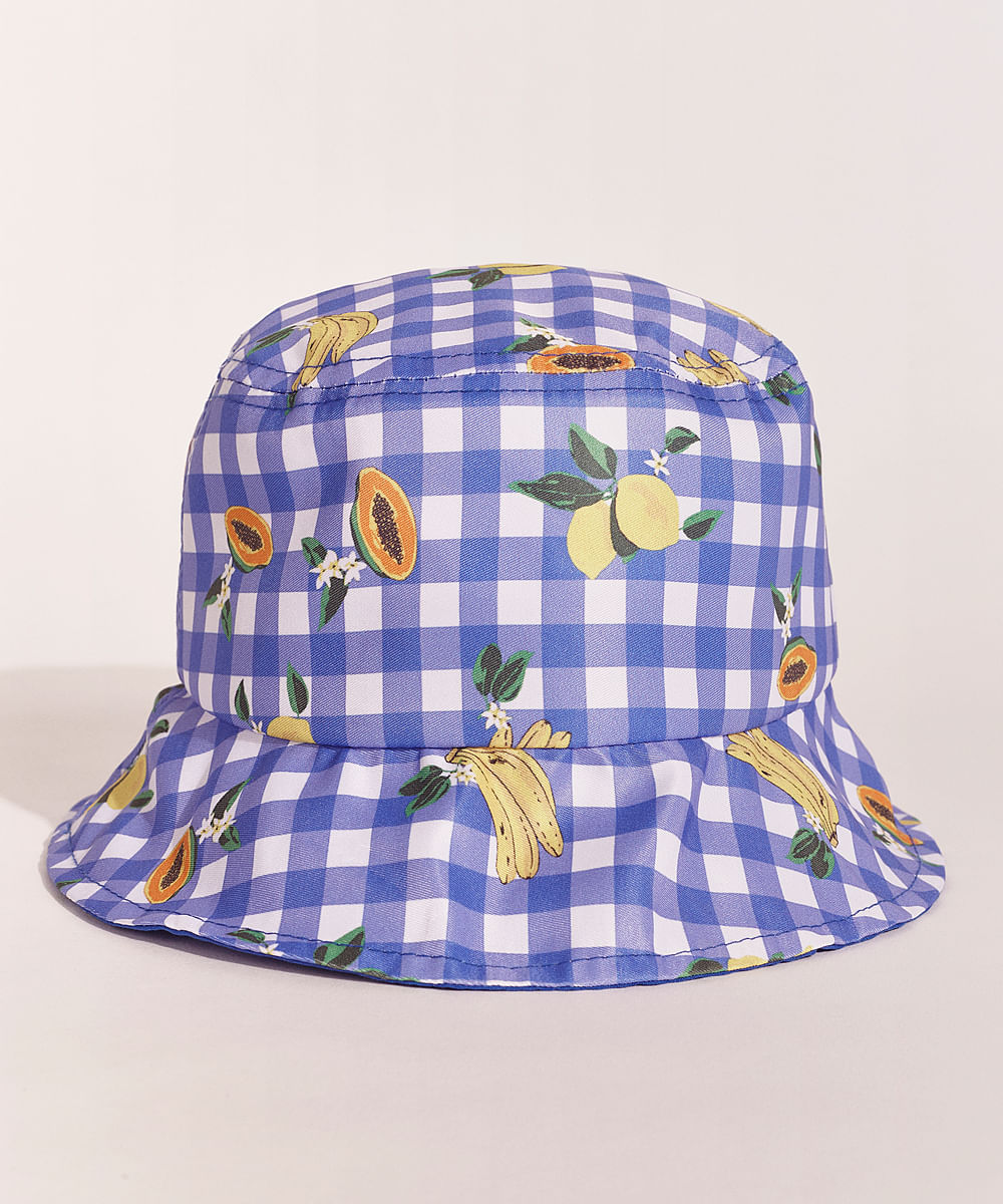 Chapéu infantil estampado, da Emi Beachwear