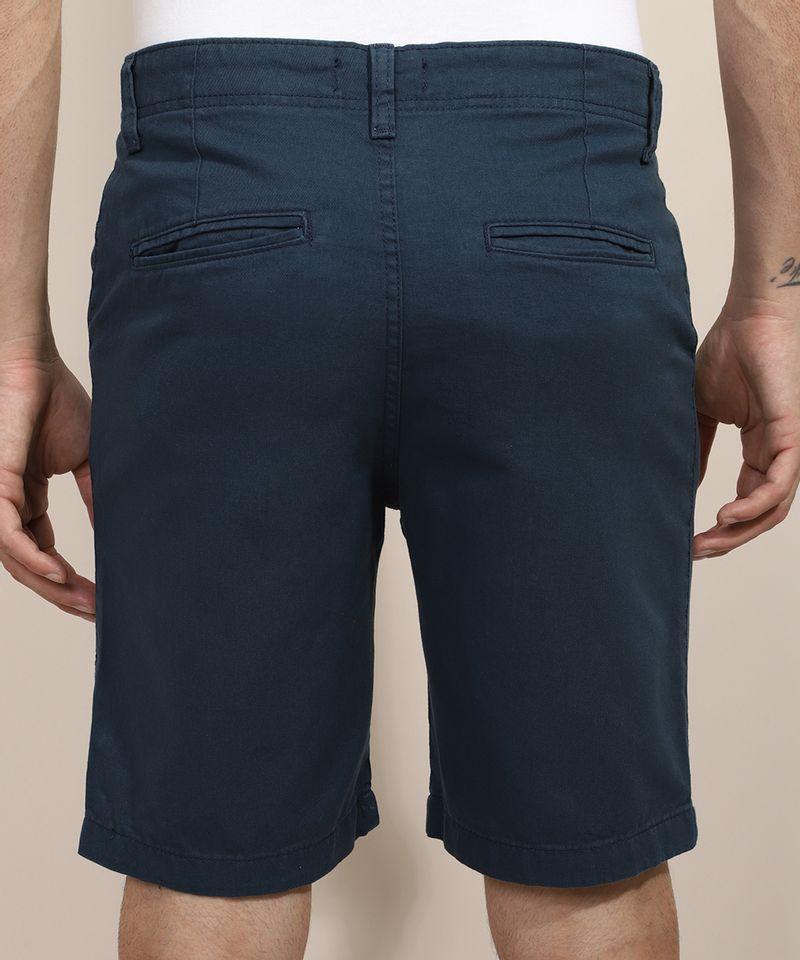 Bermuda-de-Sarja-Masculina-Slim-com-Bolsos-Azul-Marinho-8804139-Azul_Marinho_2