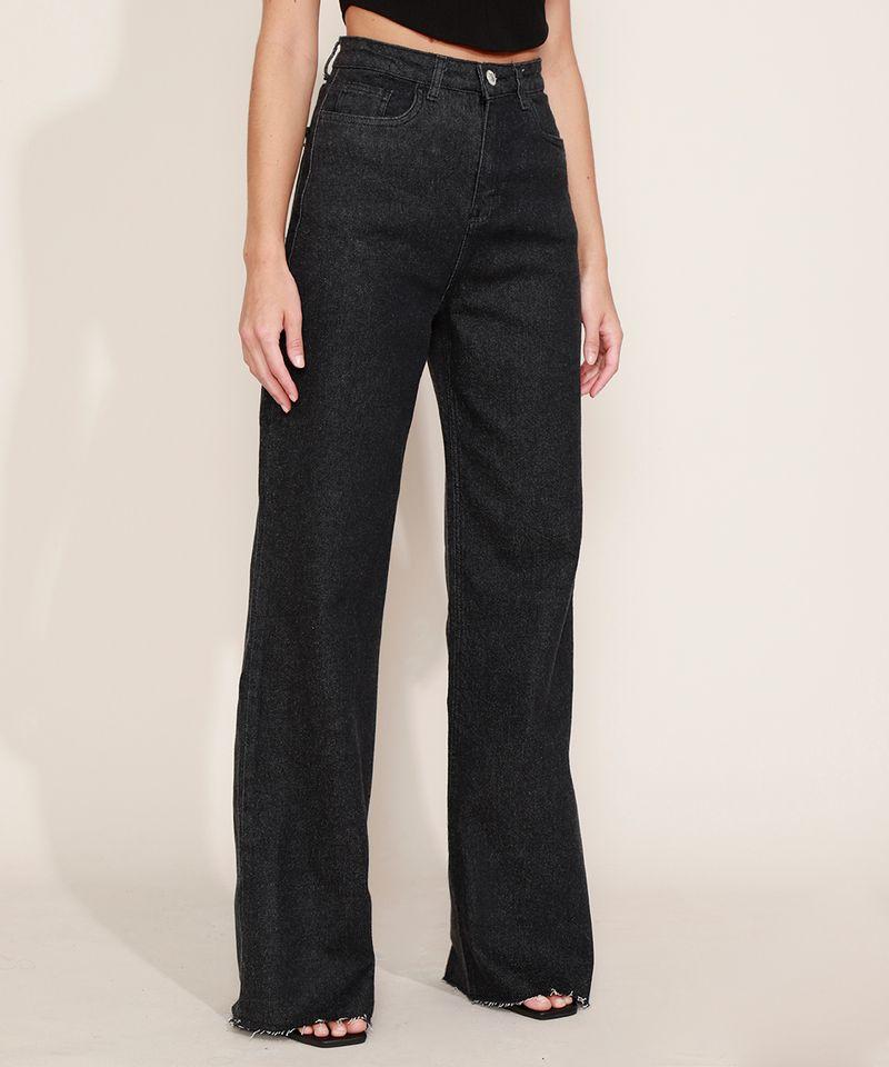 Calca-Jeans-Feminina-Mindset-Wide-Reta-Cintura-Super-Alta-Preta-9980412-Preto_1
