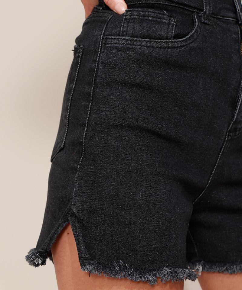 Short-Jeans-Feminino-Mindset-Cintura-Super-Alta-com-Barra-Desfiada-Preto-9980415-Preto_4