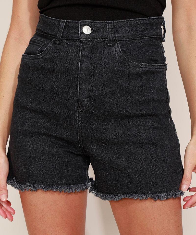 Short-Jeans-Feminino-Mindset-Cintura-Super-Alta-com-Barra-Desfiada-Preto-9980415-Preto_5