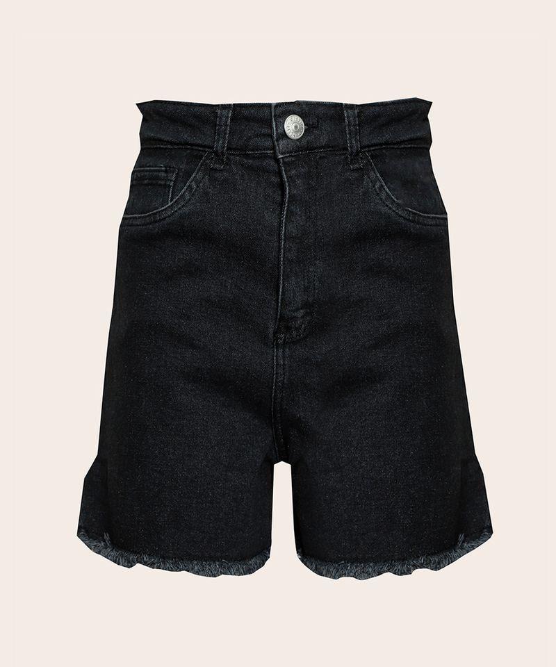 Short-Jeans-Feminino-Mindset-Cintura-Super-Alta-com-Barra-Desfiada-Preto-9980415-Preto_6