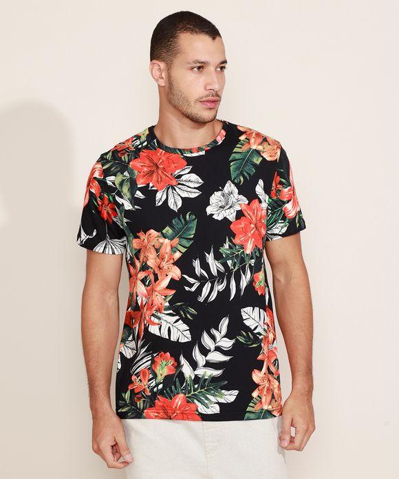 Camiseta estampada floral - Clock House