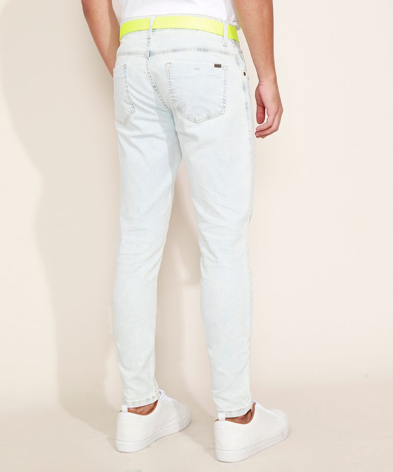 Calca-Jeans-Masculina-Super-Skinny-com-Cinto-Jeans-Claro-9966118-Jeans_Claro_2