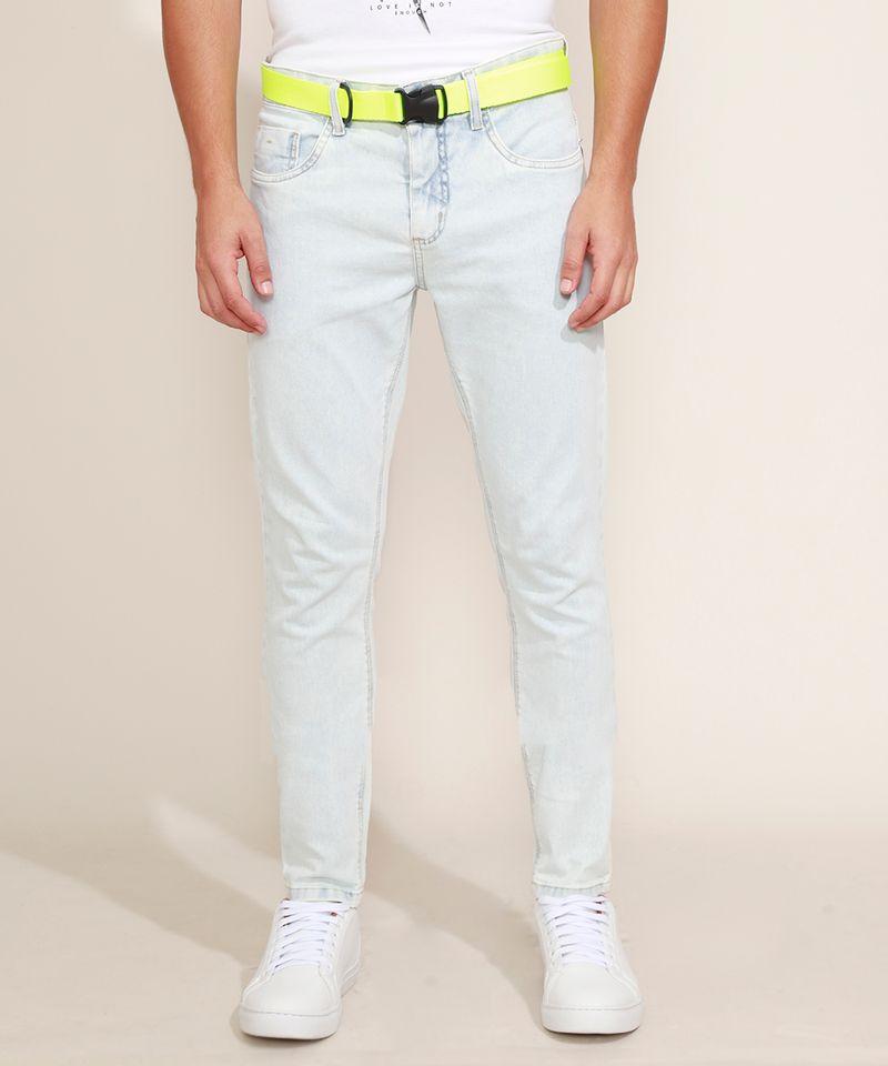 Calca-Jeans-Masculina-Super-Skinny-com-Cinto-Jeans-Claro-9966118-Jeans_Claro_6