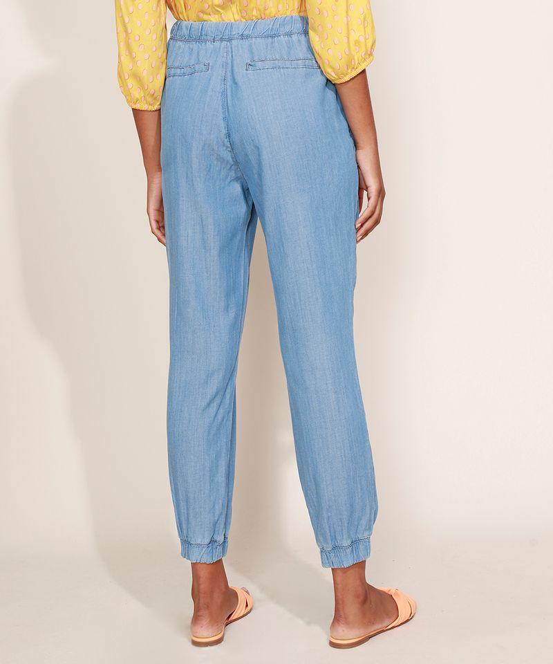 Calca-Jeans-Feminina-Jogger-Cintura-Alta-com-Bolsos-Azul-Claro-9967764-Azul_Claro_2