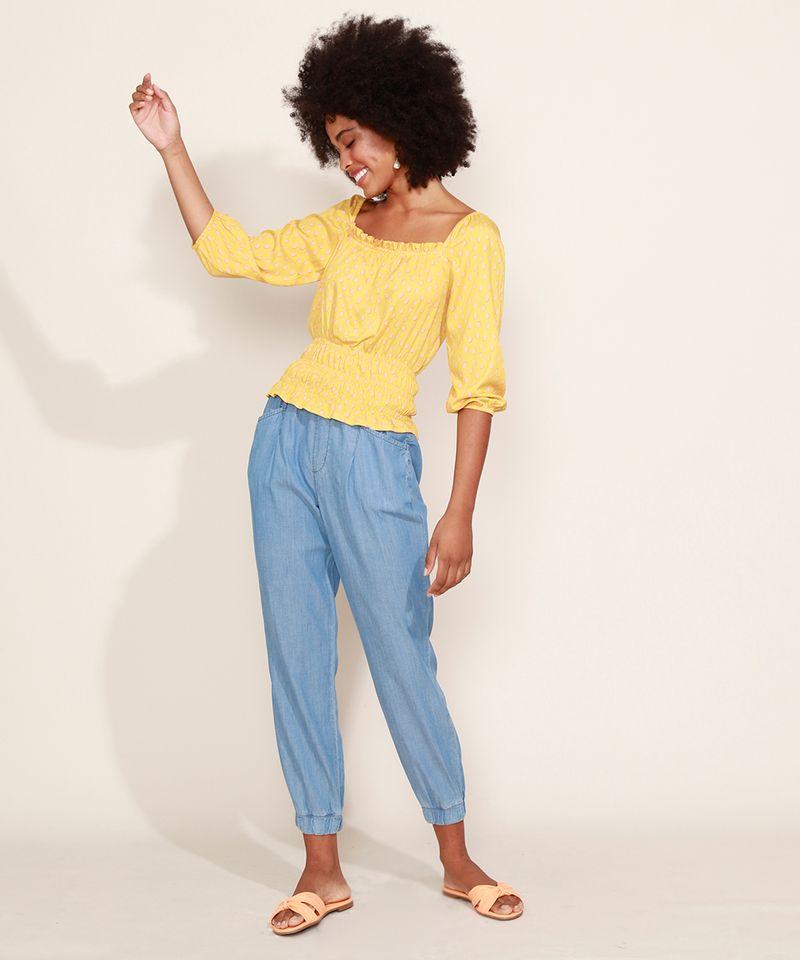 Calca-Jeans-Feminina-Jogger-Cintura-Alta-com-Bolsos-Azul-Claro-9967764-Azul_Claro_3