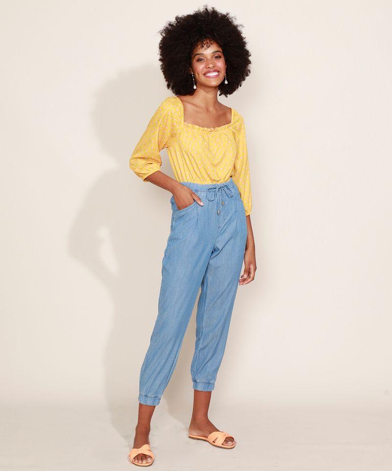 Calca-Jeans-Feminina-Jogger-Cintura-Alta-com-Bolsos-Azul-Claro-9967764-Azul_Claro_5