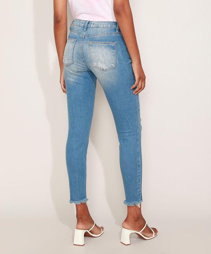 Calca-Jeans-Feminina-Cigarrete-Destroyed-com-Bolsos-Azul-Medio-9932022-Azul_Medio_2