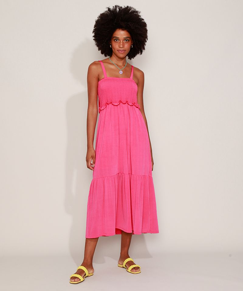 Vestido-Feminino-Midi-com-Lastex-Alca-Fina-de-Amarrar-Pink-9974789-Pink_1