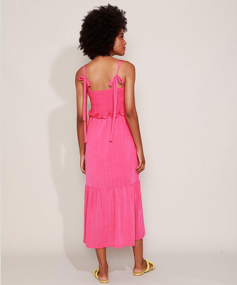 Vestido-Feminino-Midi-com-Lastex-Alca-Fina-de-Amarrar-Pink-9974789-Pink_2