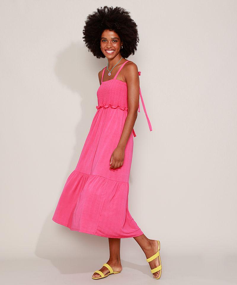 Vestido-Feminino-Midi-com-Lastex-Alca-Fina-de-Amarrar-Pink-9974789-Pink_3