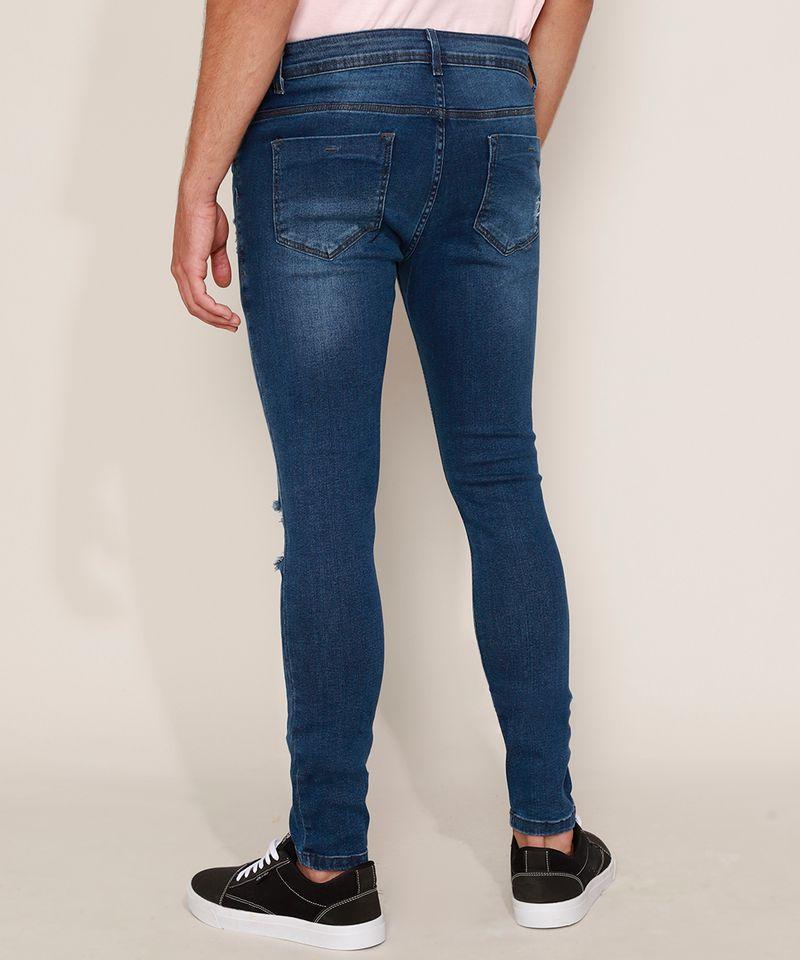 Calca-Jeans-Masculina-Super-Skinny-Destroyed-Azul-Escuro-9967890-Azul_Escuro_2