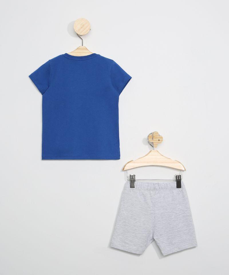 Conjunto-Infantil-de-Camiseta-Pato-Donald-Azul---Bermuda--Cinza-Mescla-Claro-9963492-Cinza_Mescla_Claro_3