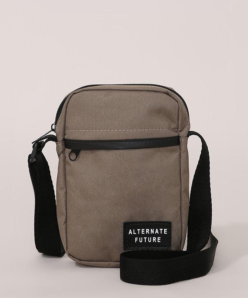 Bolsa-Shoulder-Bag-Masculina-Transversal-Pequena-com-Bolso-Verde-Militar-9946700-Verde_Militar_1