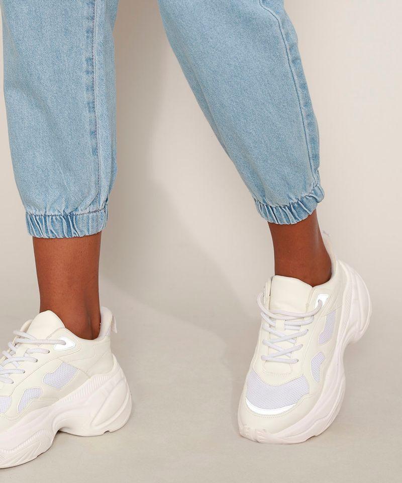 Calca-Jeans-Feminina-Jogger-Cintura-Alta-com-Bolsos-Azul-Medio-9594591-Azul_Medio_5