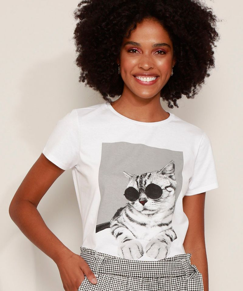 Blusa-Feminina-Gato-de-Oculos-Manga-Curta-Decote-Redondo-Off-White-9932685-Off_White_1