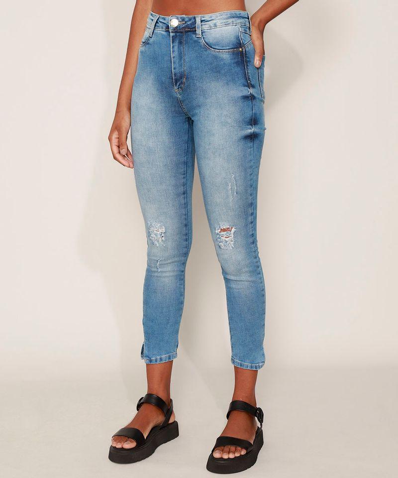 Calca-Jeans-Feminina-Sawary-Cigarrete-Push-Up-Super-Lipo-Cintura-Alta-com-Rasgos-Azul-Medio-9980181-Azul_Medio_1