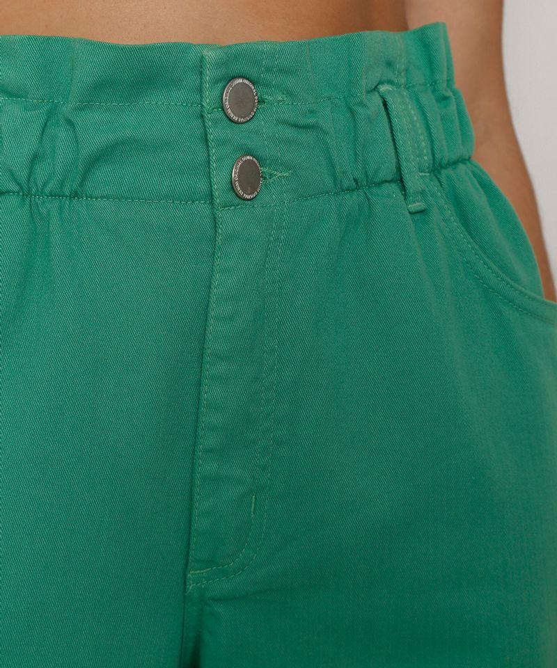 Calca-de-Sarja-Feminina-Mom-Jogger-Cintura-Super-Alta-Verde-9977048-Verde_5
