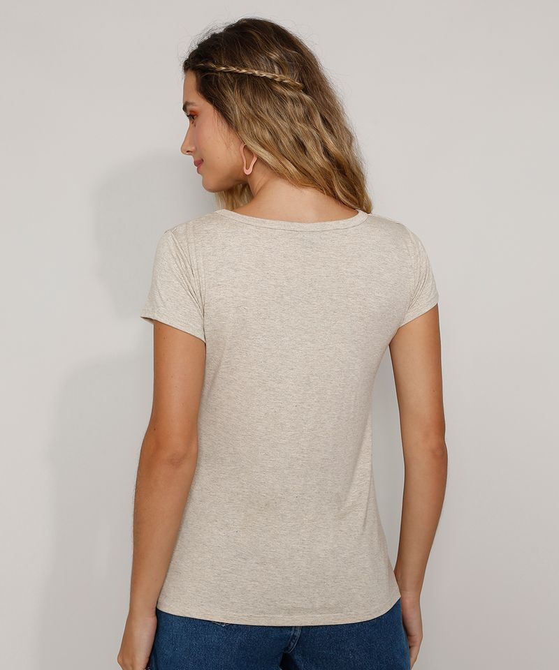 Camiseta-Feminina-Basica-com-Botoes-Manga-Curta-Decote-Redondo-Kaki-9717261-Kaki_2