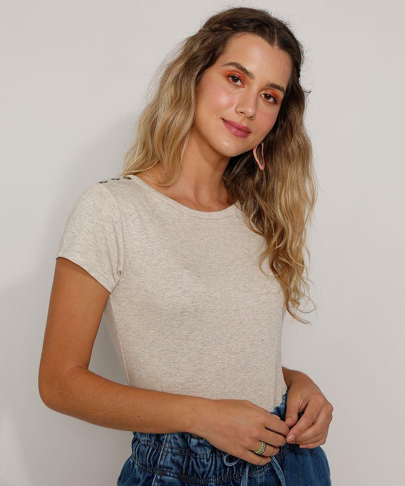 Camiseta-Feminina-Basica-com-Botoes-Manga-Curta-Decote-Redondo-Kaki-9717261-Kaki_4