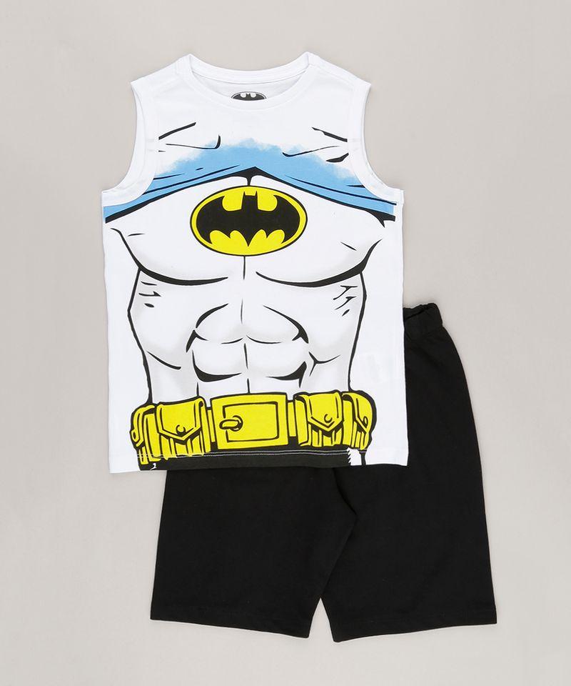 Conjunto-Batman-de-Regata-Branca---Bermuda-em-Moletom-Preta-8403980-Preto_5