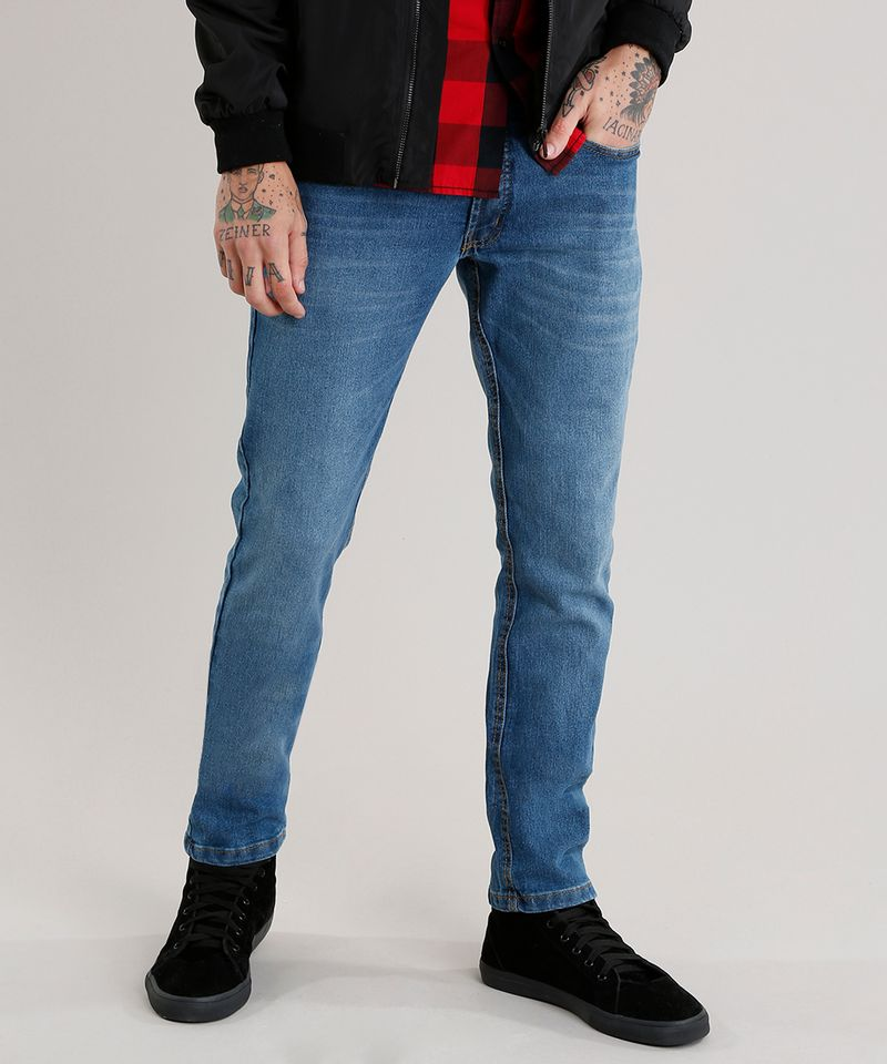 Calca-Jeans-Masculina-Slim-com-Algodao---Sustentavel-Azul-Medio-8701592-Azul_Medio_1