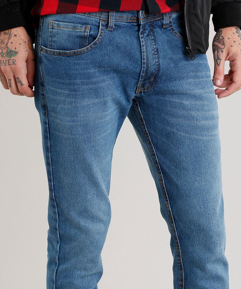 Calca-Jeans-Masculina-Slim-com-Algodao---Sustentavel-Azul-Medio-8701592-Azul_Medio_4