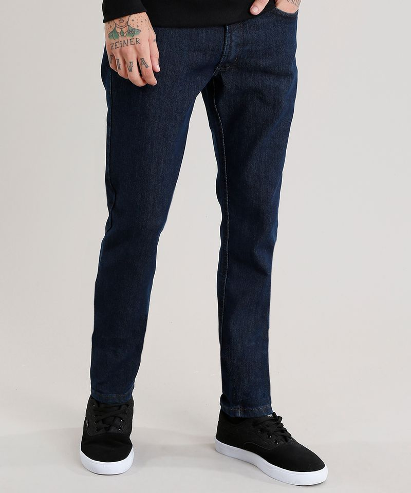 Calca-Jeans-Masculina-Slim-com-Algodao---Sustentavel-Azul-Escuro-8701555-Azul_Escuro_1