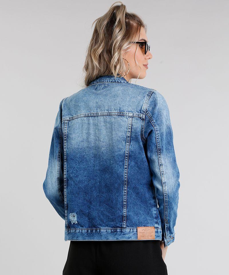 Jaqueta-Jeans-Feminina-Destroyed-Manga-Longa-Azul-Medio-9031178-Azul_Medio_2
