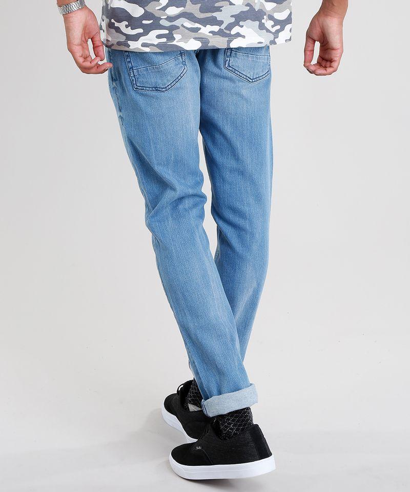 Calca-Jeans-Masculina-Slim-em-Algodao---Sustentavel-Azul-Medio-8655423-Azul_Medio_2