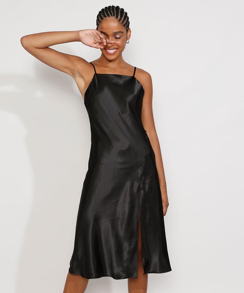 Vestido-Slip-Dress-Feminino-Midi-Acetinado-com-Fenda-Alca-Fina-Preto-9984267-Preto_1