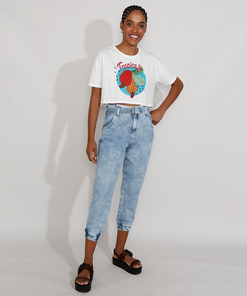 Calca-Jeans-Feminina-Cintura-Alta-Jogger-Marmorizada-com-Cinto-Azul-Claro-9982170-Azul_Claro_3