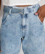 Calca-Jeans-Feminina-Cintura-Alta-Jogger-Marmorizada-com-Cinto-Azul-Claro-9982170-Azul_Claro_5
