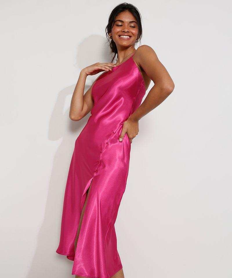 Vestido-Slip-Dress-Feminino-Midi-Acetinado-com-Fenda-Alca-Fina-Rosa-Escuro-9984267-Rosa_Escuro_4