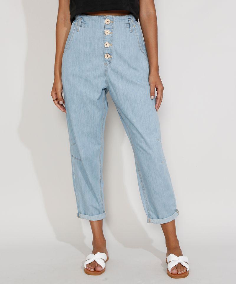 Calca-Jeans-Feminina-Cintura-Alta-Clochard-Azul-Medio-9982172-Azul_Medio_1