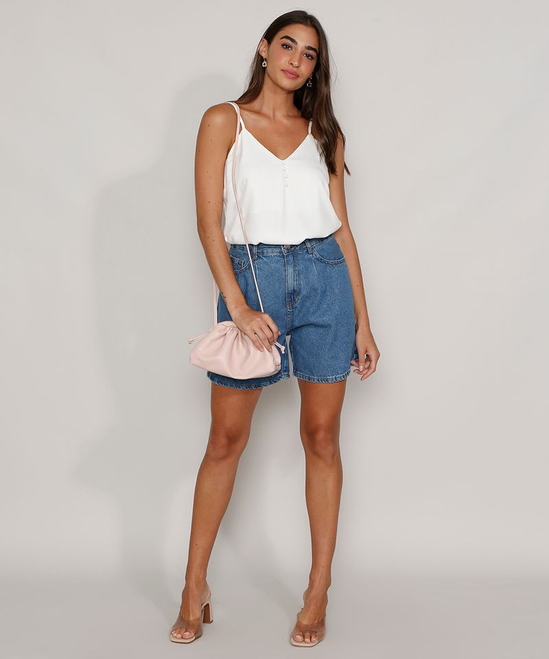 Bermuda-Jeans-Feminina-Cintura-Super-Alta-com-Pregas-Azul-Medio-9982408-Azul_Medio_3