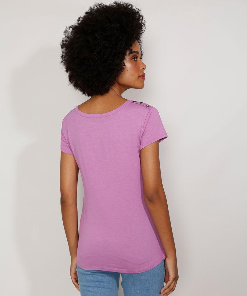 Camiseta-Feminina-Manga-Curta-Basica-com-Botoes-Decote-Redondo-Lilas-9717261-Lilas_2