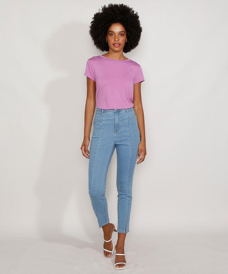 Camiseta-Feminina-Manga-Curta-Basica-com-Botoes-Decote-Redondo-Lilas-9717261-Lilas_3