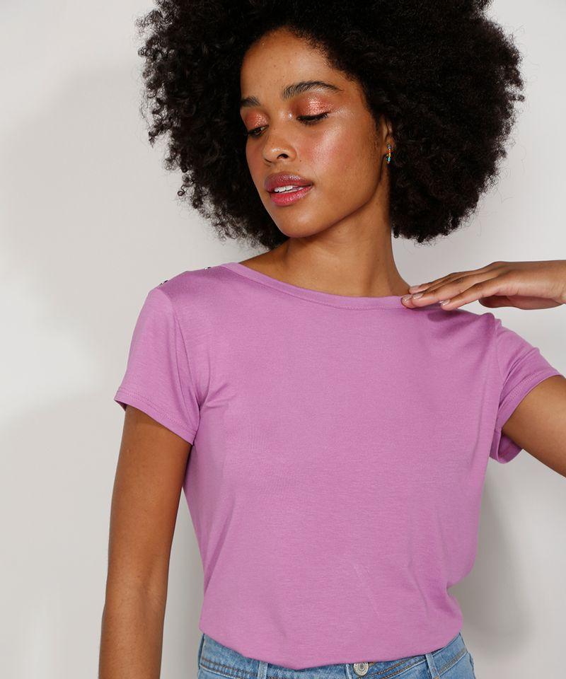 Camiseta-Feminina-Manga-Curta-Basica-com-Botoes-Decote-Redondo-Lilas-9717261-Lilas_5