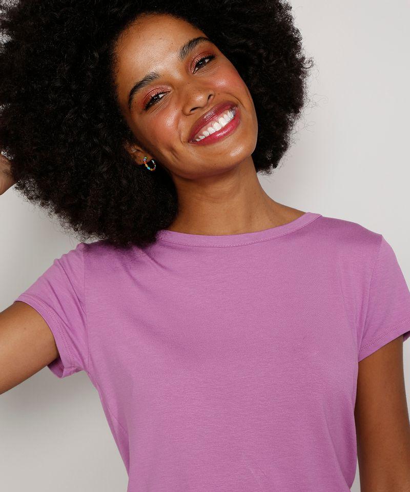 Camiseta-Feminina-Manga-Curta-Basica-com-Botoes-Decote-Redondo-Lilas-9717261-Lilas_6