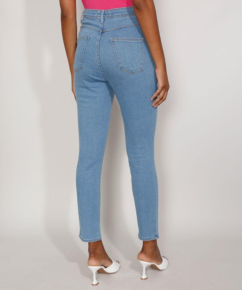 Calca-Jeans-Feminina-Cigarrete-Cintura-Super-Alta-com-Fenda-Azul-Medio-9986305-Azul_Medio_2