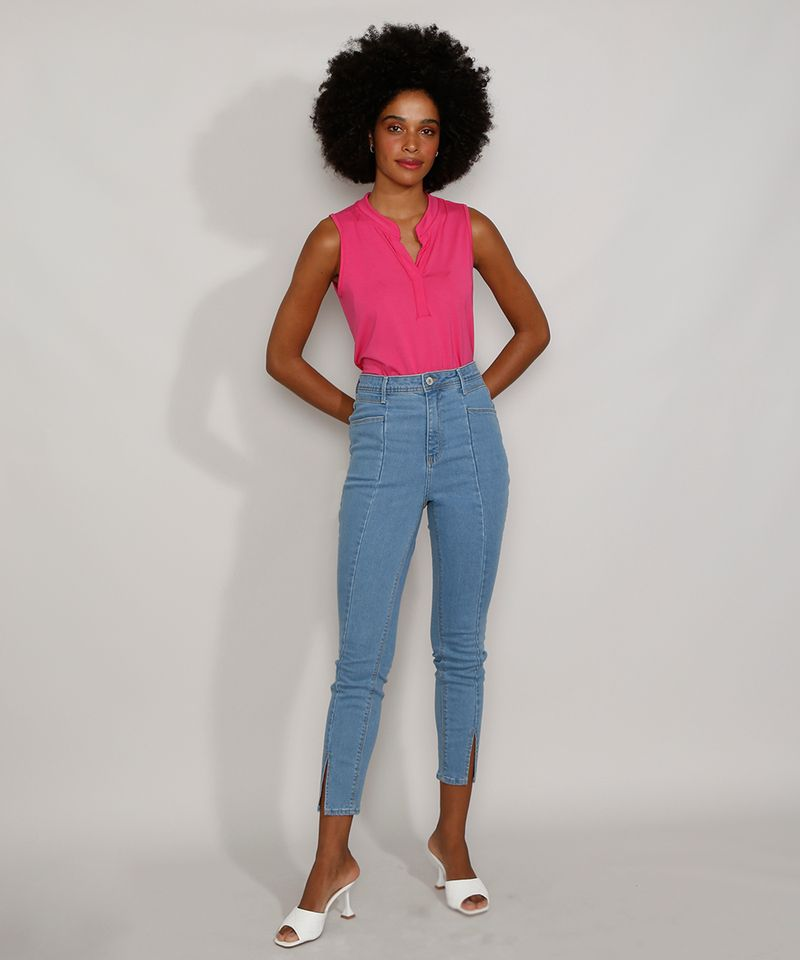 Calca-Jeans-Feminina-Cigarrete-Cintura-Super-Alta-com-Fenda-Azul-Medio-9986305-Azul_Medio_3