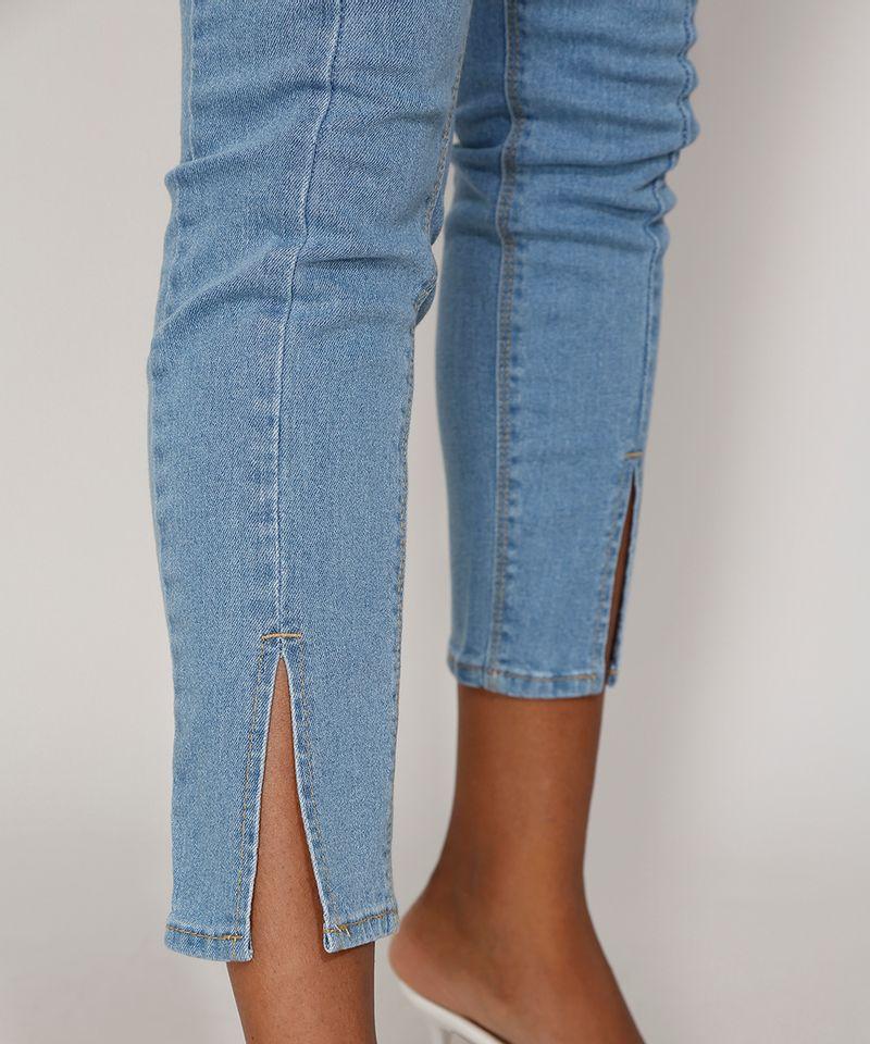 Calca-Jeans-Feminina-Cigarrete-Cintura-Super-Alta-com-Fenda-Azul-Medio-9986305-Azul_Medio_5