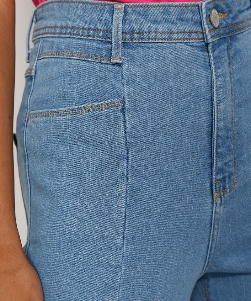 Calca-Jeans-Feminina-Cigarrete-Cintura-Super-Alta-com-Fenda-Azul-Medio-9986305-Azul_Medio_6