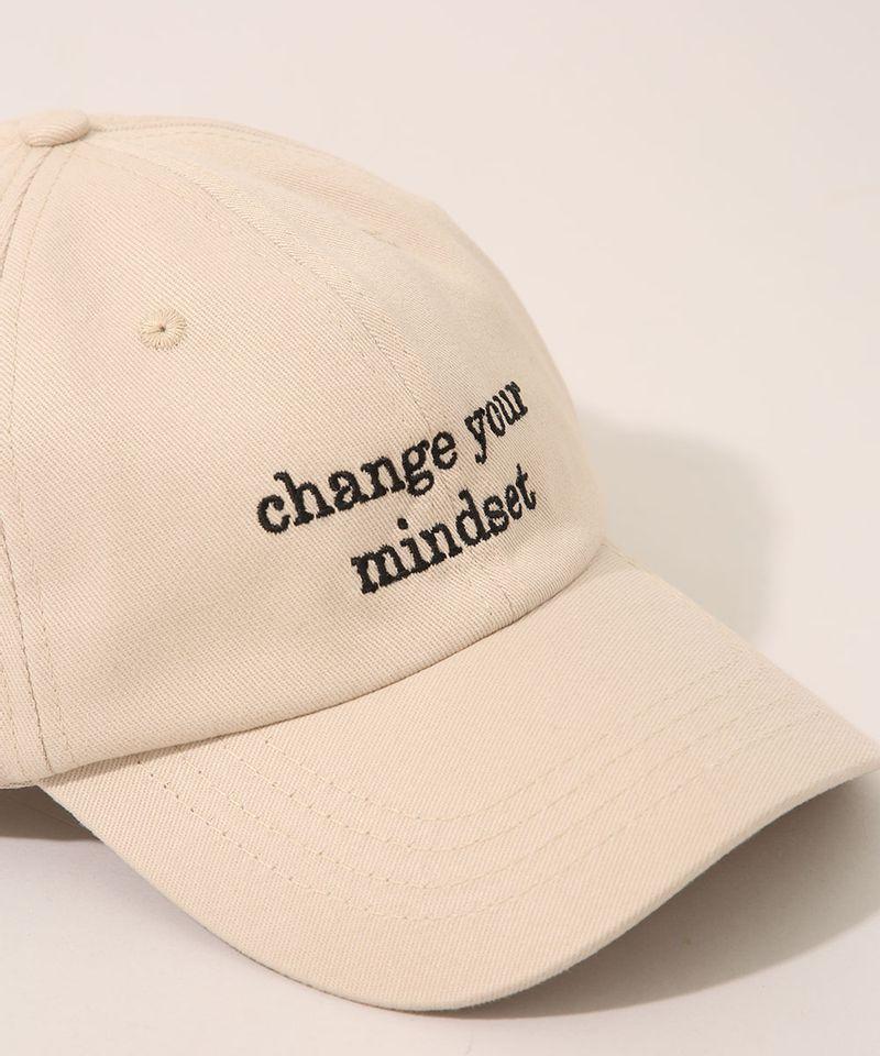 Bone-Feminino-Mindset-Aba-Curva-com-Bordado--Change-Your-Mindset--Bege-9983095-Bege_3