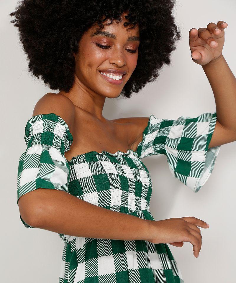 Vestido-Feminino-Midi-Ombro-a-Ombro-Estampado-Xadrez-Vichy-com-Lastex-e-Recortes-Manga-Curta-Verde-9986319-Verde_6