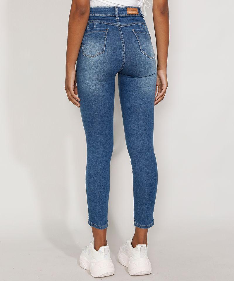 Calca-Jeans-Feminina-Cintura-Alta-Sawary-Cigarrete-Azul-Medio-9984356-Azul_Medio_2