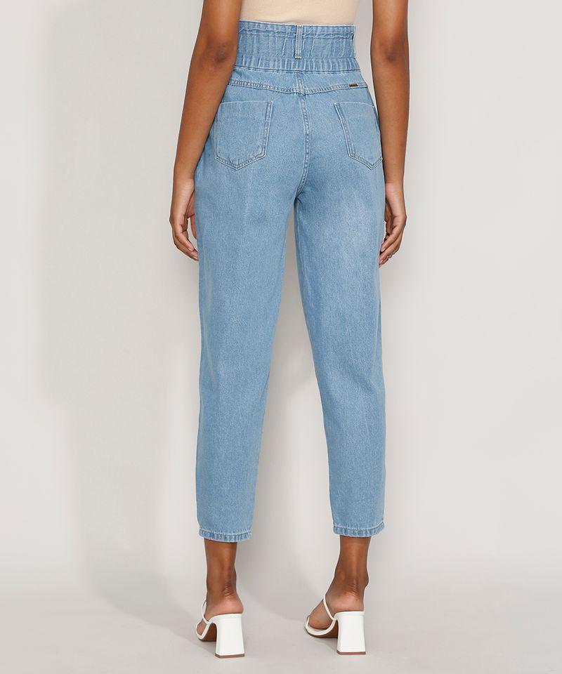 Calca-Jeans-Feminina-Sawary-Cintura-Super-Alta-com-Franzidos-Azul-Claro-9983852-Azul_Claro_2